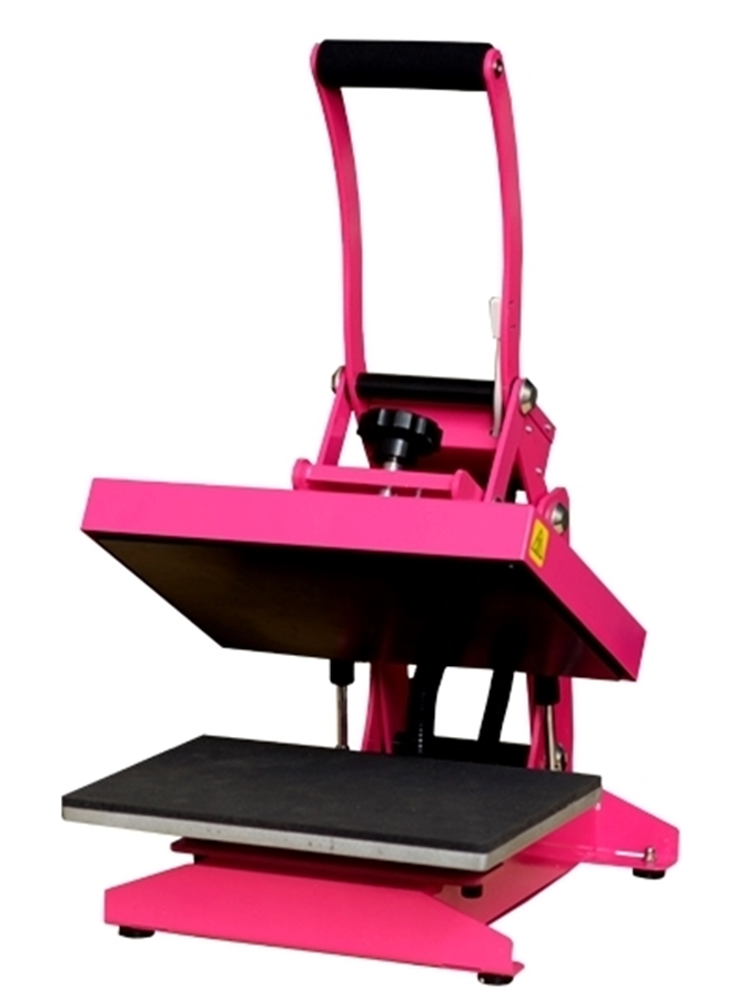 open pink craft heat press