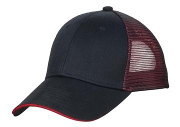 Port Authority® Double Mesh Snapback Sandwich Bill Cap. C818