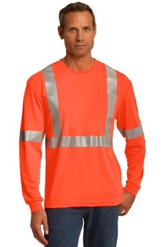 CornerStone® ANSI 107 Class 2 Long Sleeve Safety T-Shirt. CS401LS