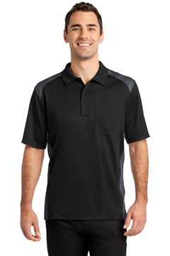 CornerStone® Select Snag-Proof Two Way Colorblock Pocket Polo. CS416