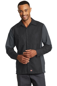 Red Kap® Long Sleeve Ripstop Crew Shirt. SY10