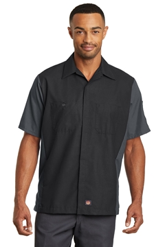 Red Kap® Short Sleeve Ripstop Crew Shirt. SY20