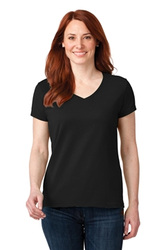 Anvil® Ladies 100% Combed Ring Spun Cotton V-Neck T-Shirt. 88VL