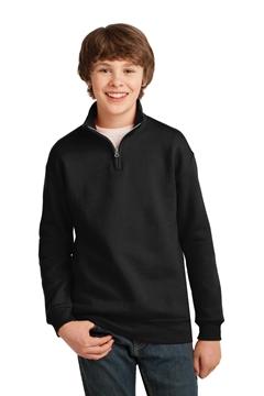 JERZEES® Youth NuBlend® 1/4-Zip Cadet Collar Sweatshirt. 995Y