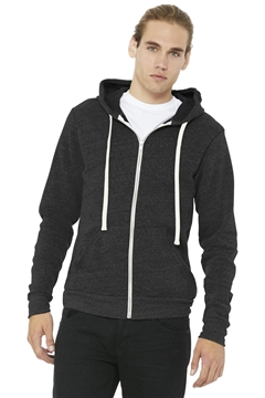 BELLA+CANVAS® Unisex Triblend Sponge Fleece Full-Zip Hoodie. BC3909