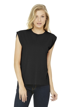 BELLA+CANVAS® Women's Flowy Muscle Tee With Rolled Cuffs. BC8804