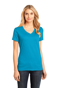 District® - Women's Perfect Weight® V-Neck Tee. DM1170L