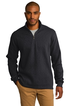 Port Authority® Slub Fleece 1/4-Zip Pullover. F295
