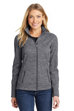 Port Authority® Ladies Digi Stripe Fleece Jacket. L231