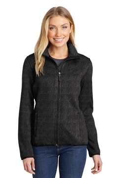 Port Authority® Ladies Sweater Fleece Jacket. L232