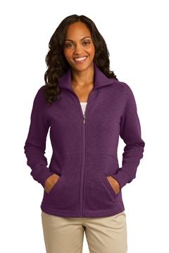 Port Authority® Ladies Slub Fleece Full-Zip Jacket. L293