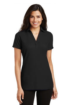Port Authority® Ladies Silk Touch ™ Y-Neck Polo. L5001