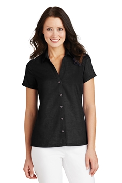 Port Authority® Ladies Textured Camp Shirt. L662