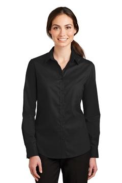 Port Authority® Ladies SuperPro ™ Twill Shirt. L663