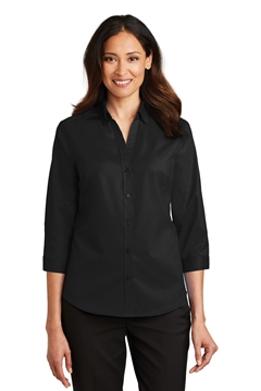 Port Authority® Ladies 3/4-Sleeve SuperPro ™ Twill Shirt. L665