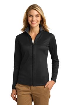 Port Authority® Ladies Vertical Texture Full-Zip Jacket. L805