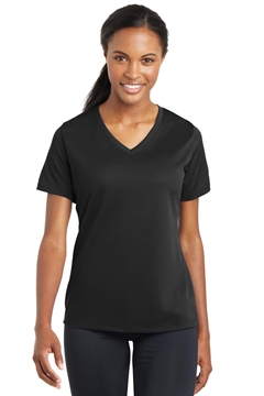 Sport-Tek® Ladies PosiCharge® RacerMesh® V-Neck Tee. LST340