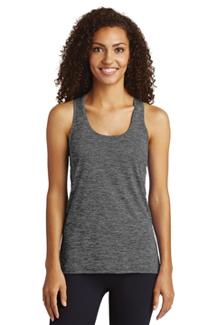 Sport-Tek® Ladies PosiCharge® Electric Heather Racerback Tank. LST396