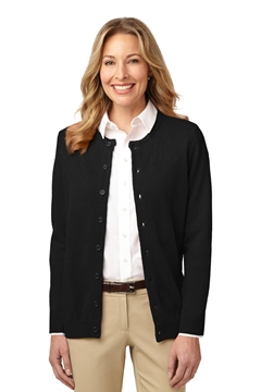 Port Authority® Ladies Value Jewel-Neck Cardigan Sweater. LSW304