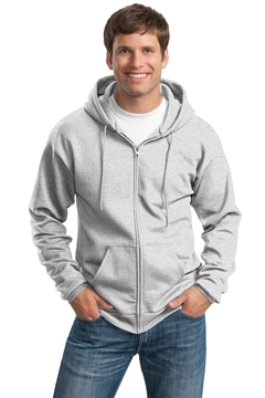 Port & Company® Tall Essential Fleece Full-Zip Hooded Sweatshirt. PC90ZHT