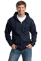 Port & Company® Tall Essential Fleece Full-Zip Hooded Sweatshirt. PC90ZHT