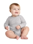 Rabbit Skins ™ Infant Long Sleeve Baby Rib Bodysuit. RS4411