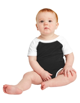 Rabbit Skins ™ Infant Baseball Fine Jersey Bodysuit. RS4430
