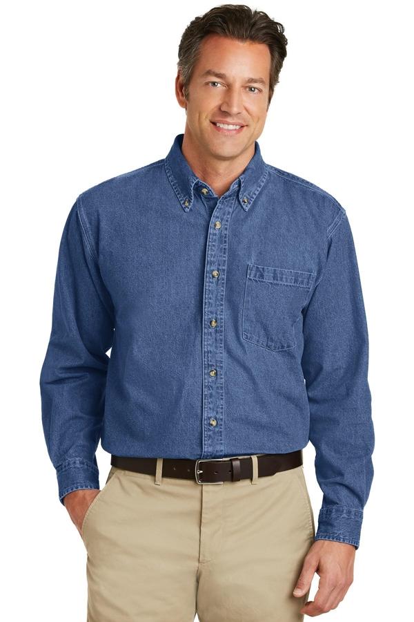 Port Authority® Heavyweight Denim Shirt. S100