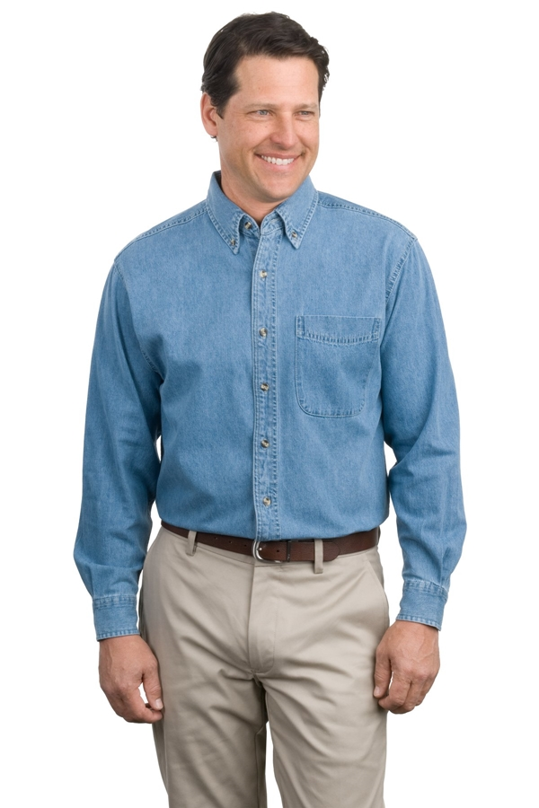 Port Authority® Long Sleeve Denim Shirt. S600