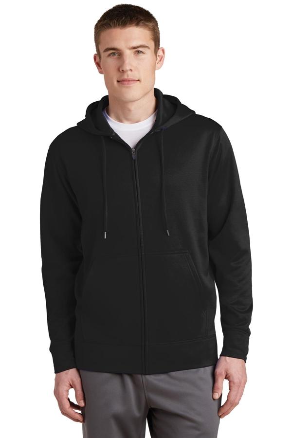 Sport-Tek® Sport-Wick® Fleece Full-Zip Hooded Jacket. ST238