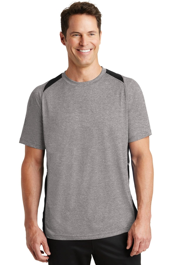 Sport-Tek® Heather Colorblock Contender ™ Tee. ST361