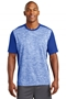 Sport-Tek® PosiCharge® Electric Heather Colorblock Tee. ST395
