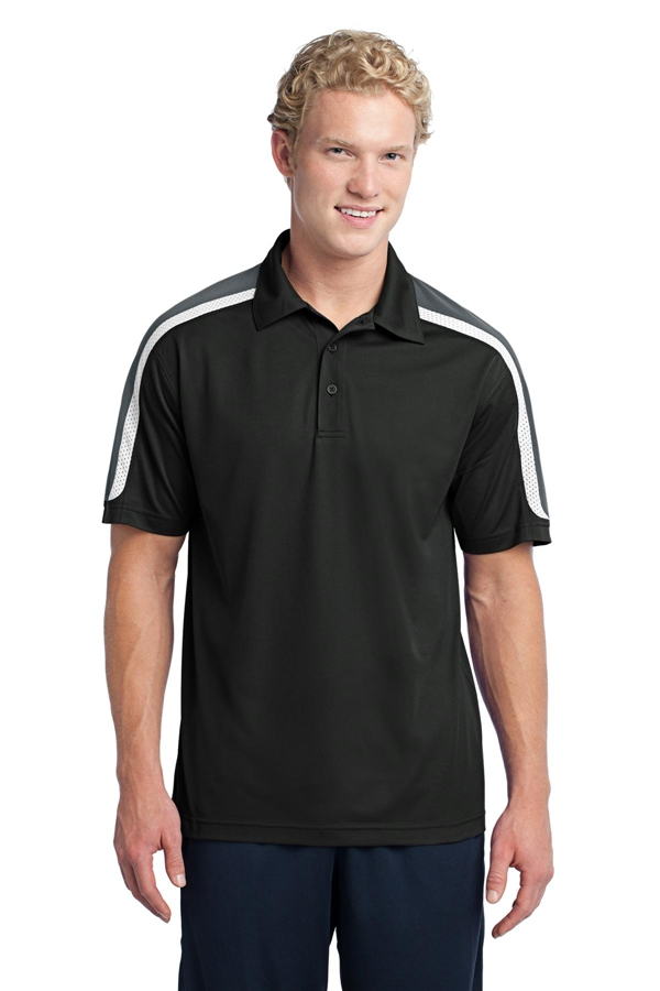 Sport-Tek® Tricolor Shoulder Micropique Sport-Wick® Polo. ST658