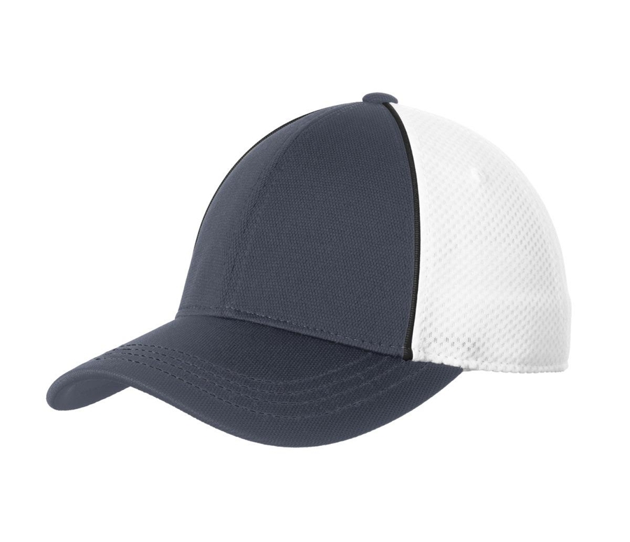 Sport-Tek® Piped Mesh Back Cap. STC29
