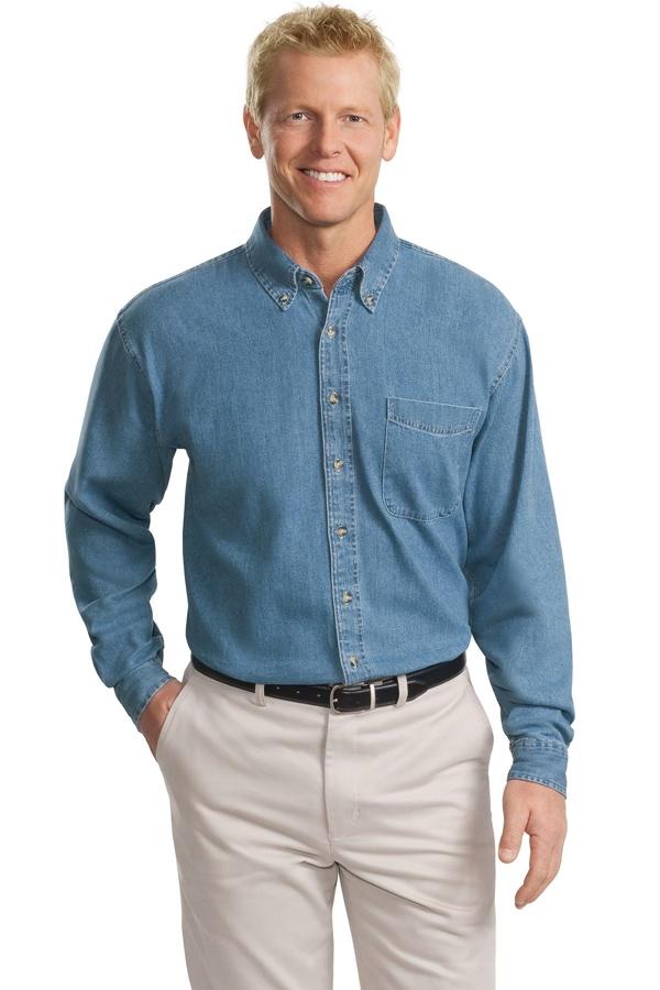 Port Authority® Tall Long Sleeve Denim Shirt. TLS600