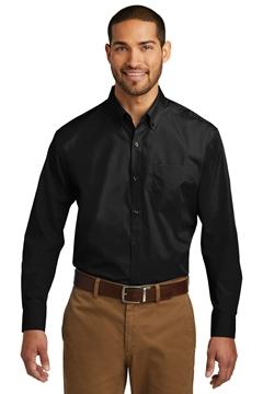 Port Authority® Tall Long Sleeve Carefree Poplin Shirt. TW100