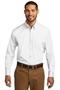 Port Authority® Long Sleeve Carefree Poplin Shirt. W100