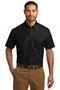 Port Authority® Short Sleeve Carefree Poplin Shirt. W101