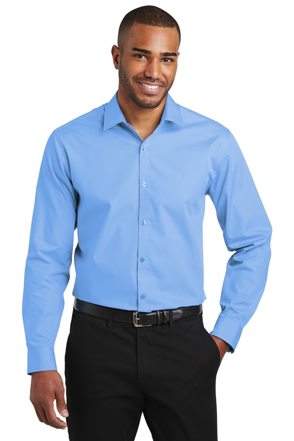 Port Authority® Slim Fit Carefree Poplin Shirt. W103