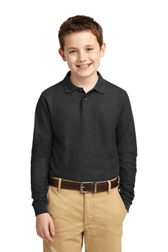 Port Authority® Youth Long Sleeve Silk Touch™ Polo. Y500LS