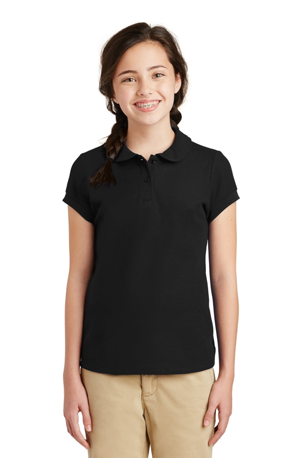 Port Authority® Girls Silk Touch ™ Peter Pan Collar Polo. YG503