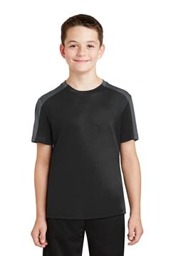 Sport-Tek® Youth PosiCharge® Competitor ™ Sleeve-Blocked Tee. YST354