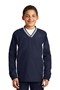 Sport-Tek® Youth Tipped V-Neck Raglan Wind Shirt. YST62