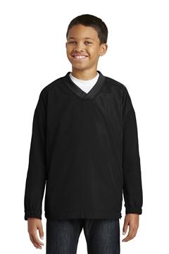 Sport-Tek® Youth V-Neck Raglan Wind Shirt. YST72