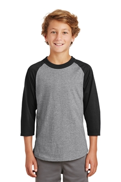 Sport-Tek® Youth Colorblock Raglan Jersey. YT200