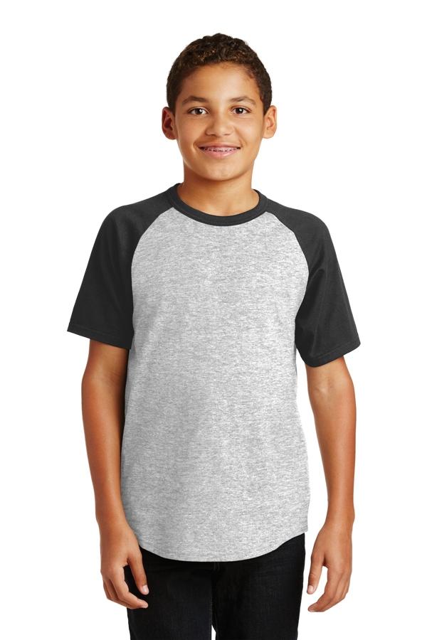 Sport-Tek® Youth Short Sleeve Colorblock Raglan Jersey. YT201