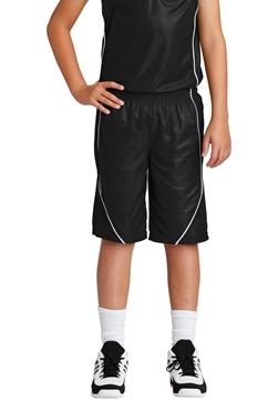 Sport-Tek® Youth PosiCharge® Mesh Reversible Spliced Short. YT565
