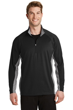 Sport-Tek® Sport-Wick® Stretch Contrast 1/2-Zip Pullover. ST854