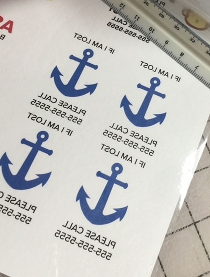 Inktra Inkjet Tattoo Transfer Paper with blue anchors