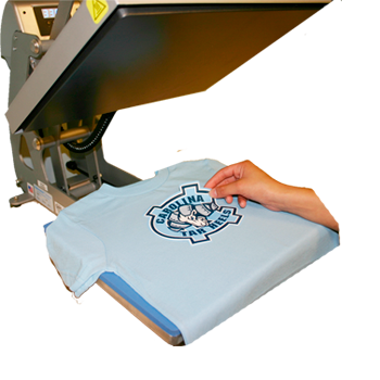 Place Garment on Heat Press